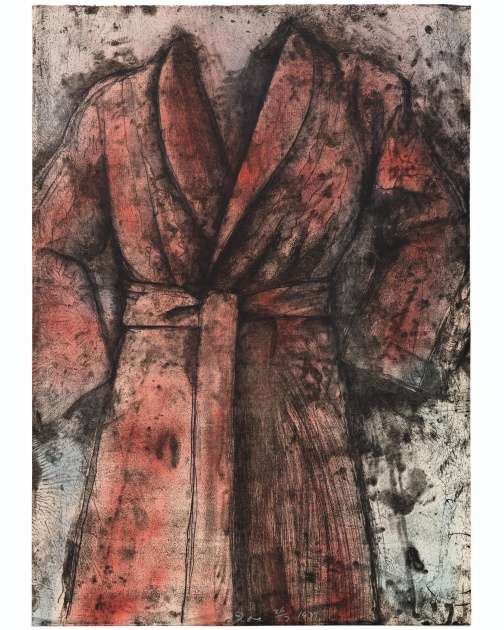 """Spray Painted Robe"" (1977) by Jim Dine"