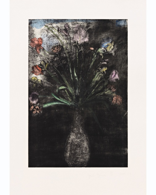 """Hand-colored Flowers, State II"" (1973-1989) by Jim Dine"