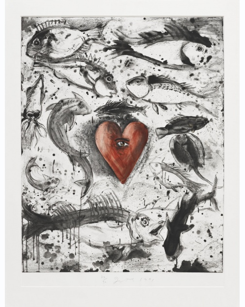 """Self in the Ocean"" (1991) by Jim Dine"