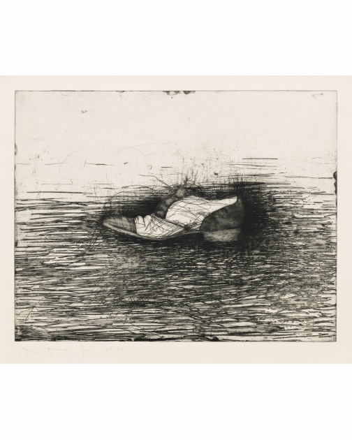 """Shoe (Third State)"" (1973) by Jim Dine"