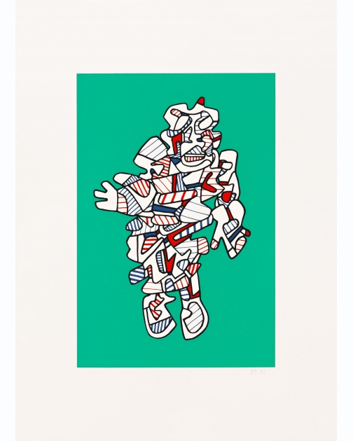"""Protestator(Green)"" (1973) by Jean Dubuffet"
