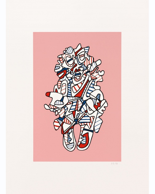 """Objectador(Rose)"" (1973) by Jean Dubuffet"