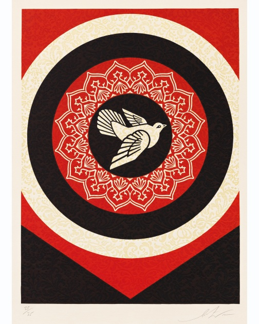 """Dove Target Black"" (2012) by Shepard Fairey"