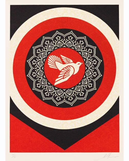 """Dove Target Red"" (2012) by Shepard Fairey"