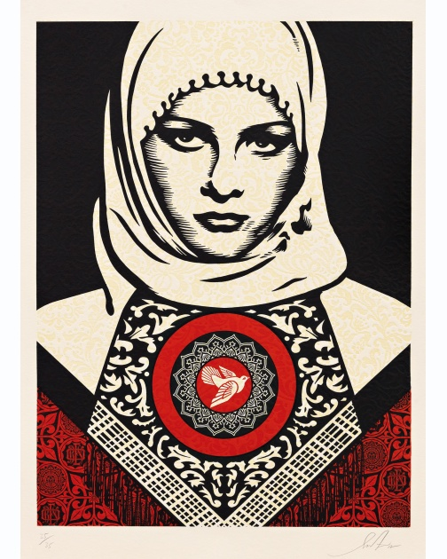 """Arab Woman"" (2012) by Shepard Fairey"