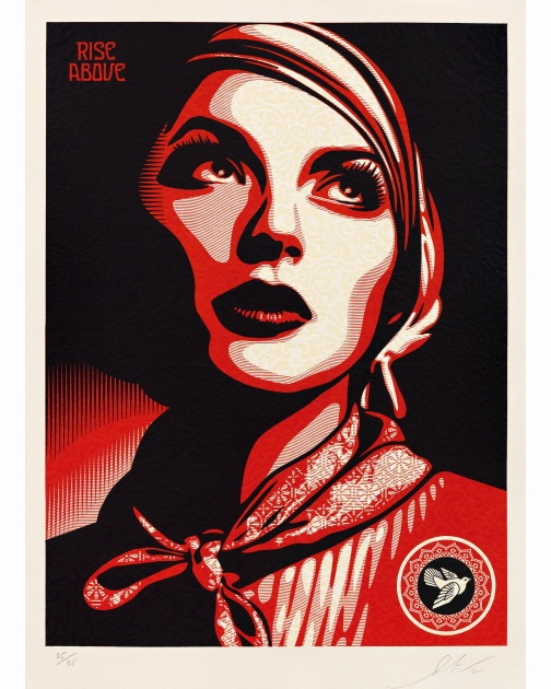 """Rise Above Rebel"" (2012) by Shepard Fairey"