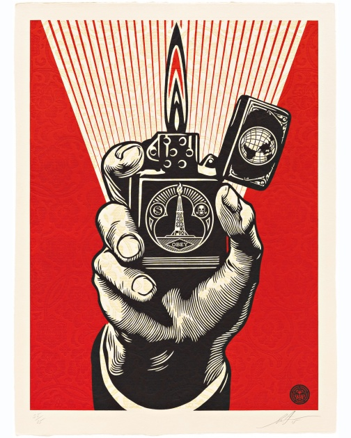 """Smoke 'Em While You Got 'Em"" (2015) by Shepard Fairey"
