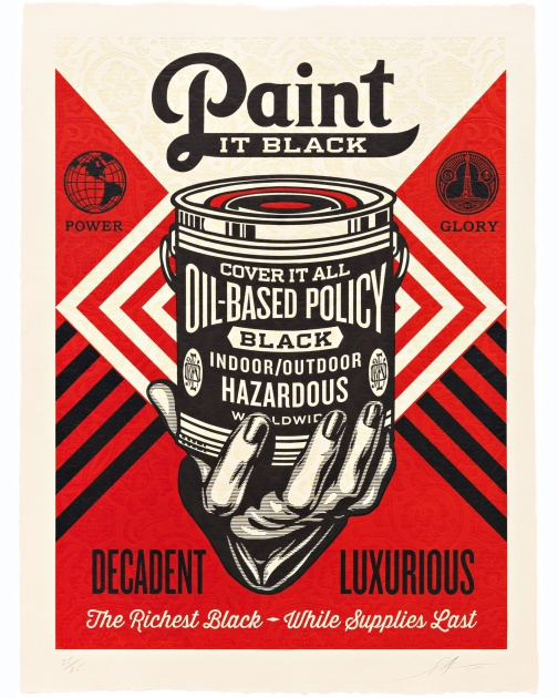 """Paint it Black (Hand)"" (2015) by Shepard Fairey"