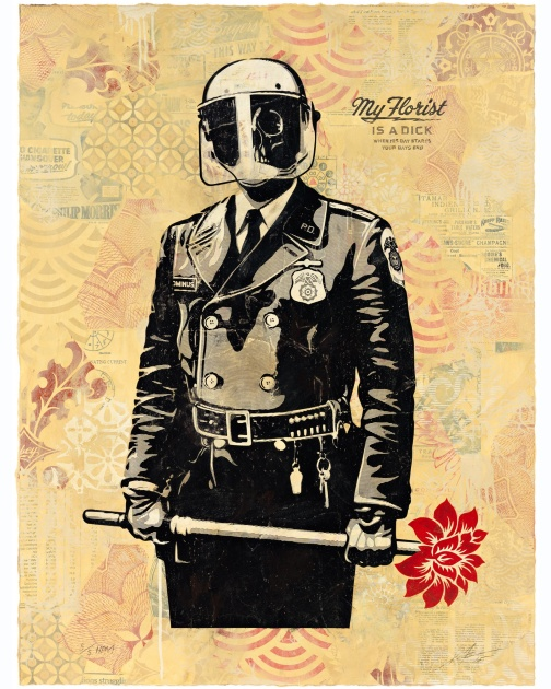 """My Florist is a Dick, HPM"" (2015) by Shepard Fairey"