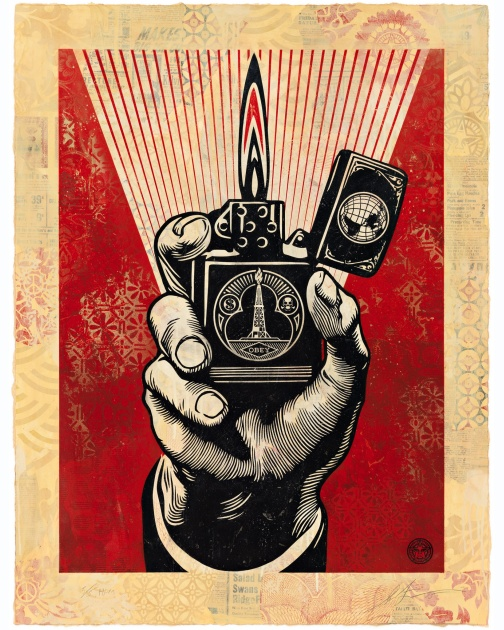 """Smoke 'Em While You Got 'Em, HPM"" (2015) by Shepard Fairey"