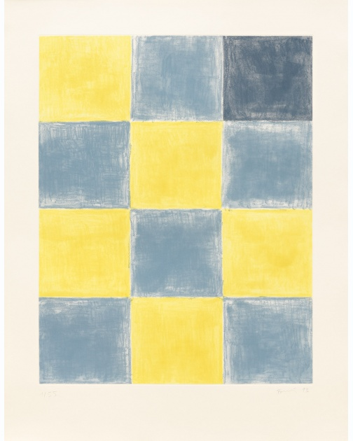 """Untitled (Blue/yellow squares)"" (1993) by Günther Förg"