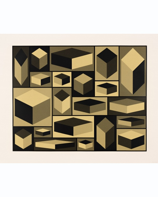 """Distorted Cubes (A)"" (2001) by Sol LeWitt"