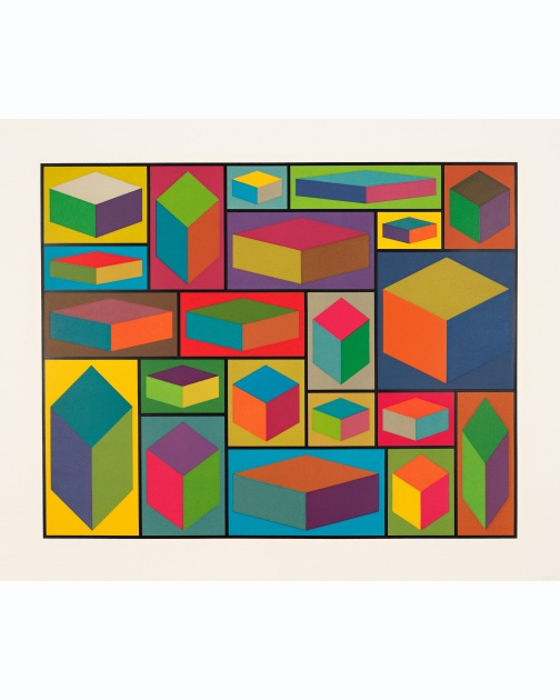 """Distorted Cubes (B)"" (2001) by Sol LeWitt"