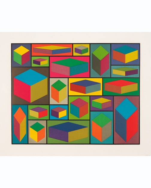 """Distorted Cubes (C)"" (2001) by Sol LeWitt"