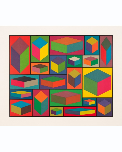 """Distorted Cubes (D)"" (2001) by Sol LeWitt"
