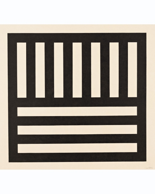 """Black Bands in Two Directions"" (1990) by Sol LeWitt"