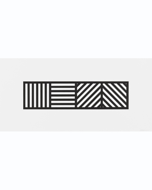 """Lines in Four Directions, Black/White"" (2004) by Sol LeWitt"