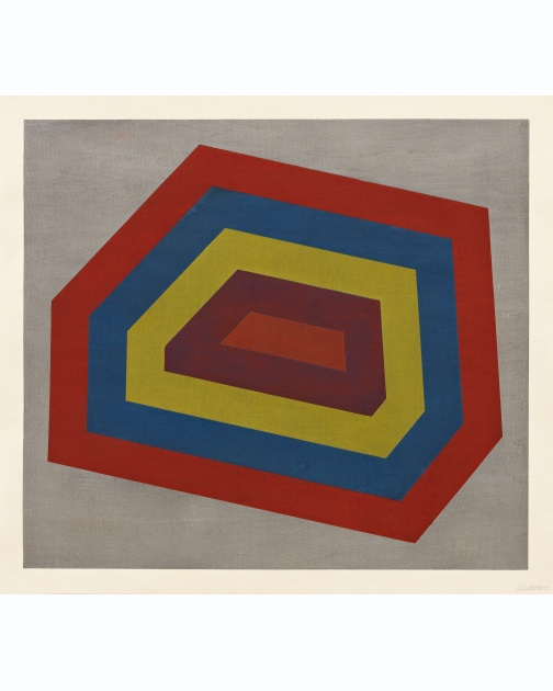 """Complex Form With Bands"" (1991) by Sol LeWitt"