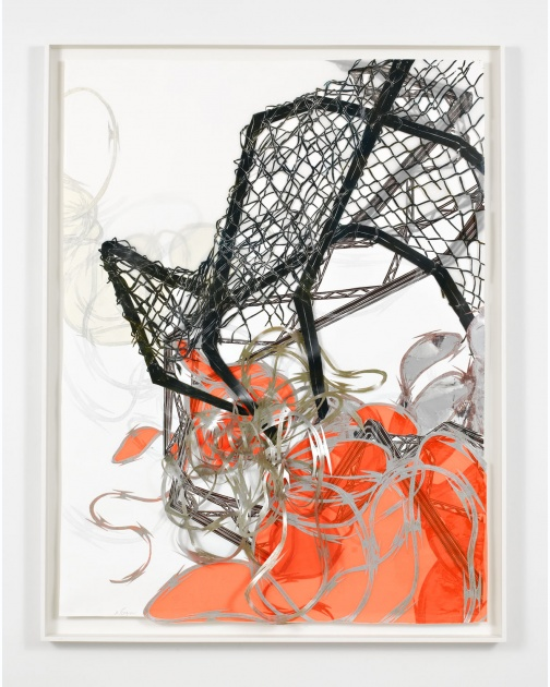 """Structural Detour 19: Chain-link Claw Grapples with Rowdy Razor Wire"" (2011) by Nicola López"