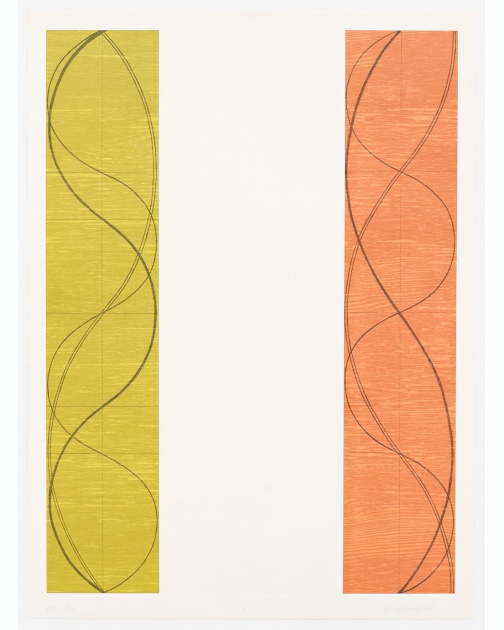 """Two Columns, C"" (2004) by Robert Mangold"