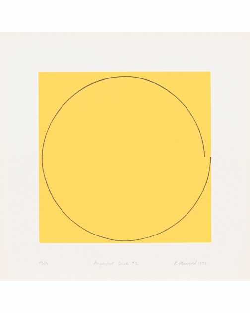 """Imperfect Circle No. 2 (Yellow)"" (1973) by Robert Mangold"