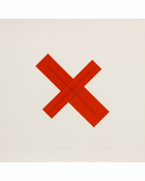 """X Within X"" (1981) by Robert Mangold"