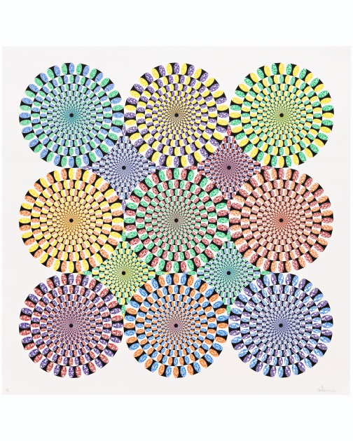 """Untitled (Peripheral Drift Illusion)"" (2007) by Ryan McGinness"