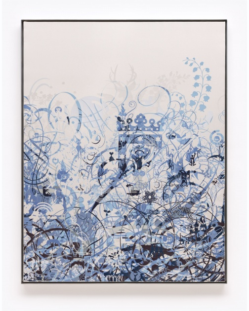 """Untitled (Woven Mindscape II)"" (2014) by Ryan McGinness"
