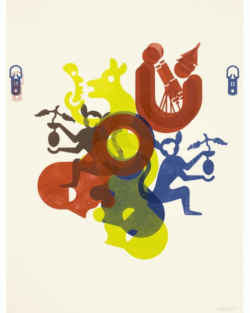 """Money Is A Sign Of Poverty (#31)"" (2009) by Ryan McGinness"