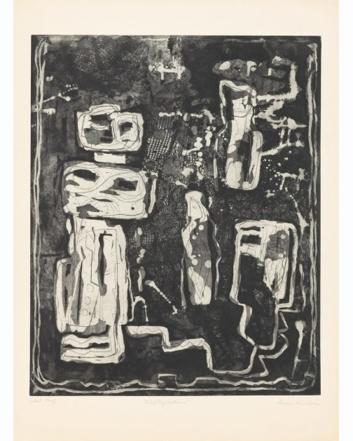 """Solid Reflections"" (1953-1955) by Louise Nevelson"