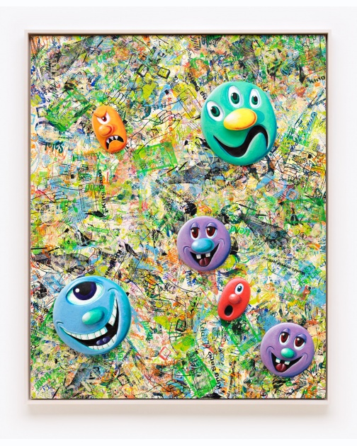 """Face Facts #5"" (2014) by Kenny Scharf"