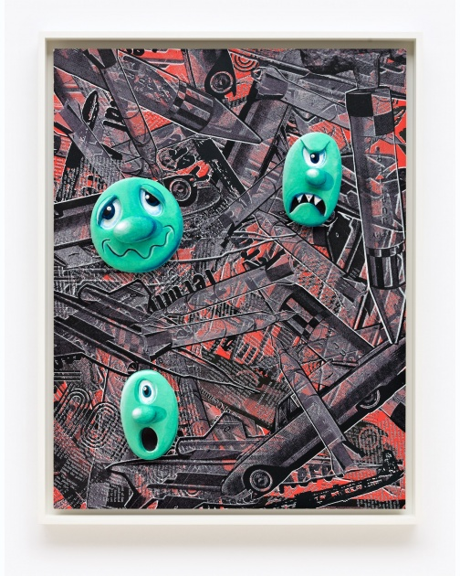 """Face Facts #16"" (2014) by Kenny Scharf"