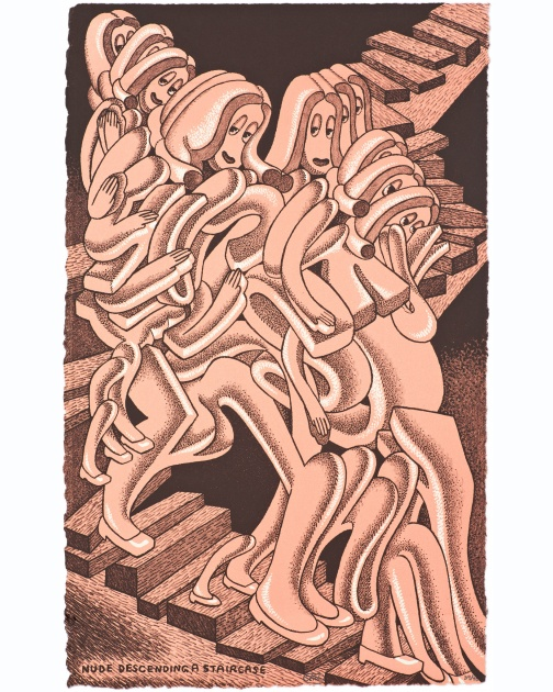 """Nude Descending a Staircase"" by Peter Saul"