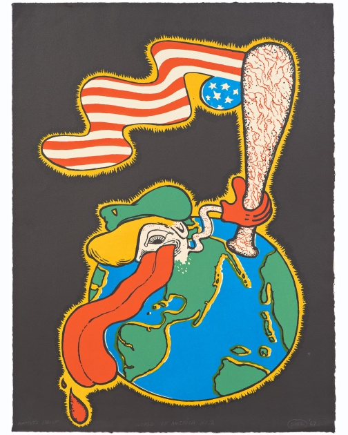 """World of America, No. 2"" by Peter Saul"