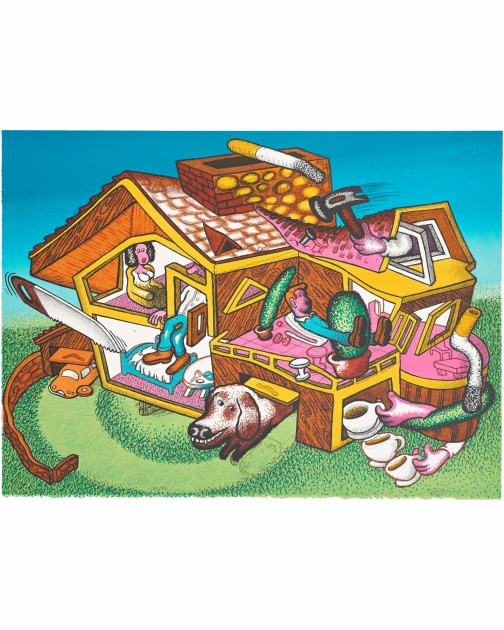 """Modern Home"" (2003) by Peter Saul"