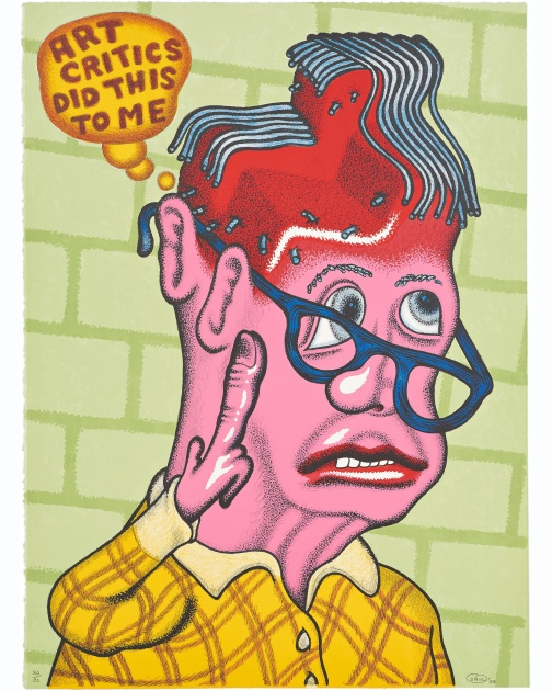 """Self Portrait with Haircut "" (2003) by Peter Saul"