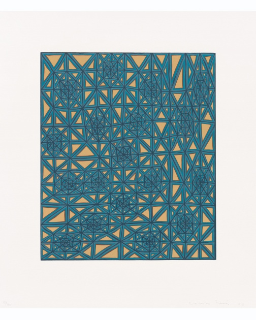 """Lattice"" (2003) by James Siena"