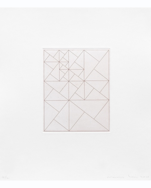 """Untitled (Iterative Grid)"" (2010) by James Siena"