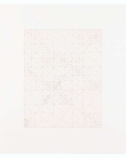 """Untitled (Iterative Grid Second Version)"" (2010) by James Siena"