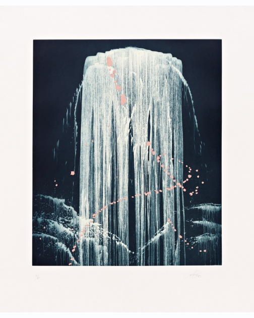 """August Waterfall"" by Pat Steir"