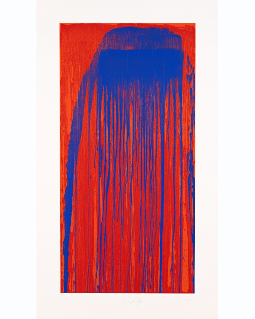 """Peacock Waterfall"" (2001) by Pat Steir"
