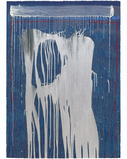 """Big Silver Falls"" by Pat Steir"