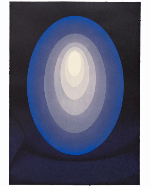 """Suite from Aten Reign (Blue)"" (2014) by James Turrell"