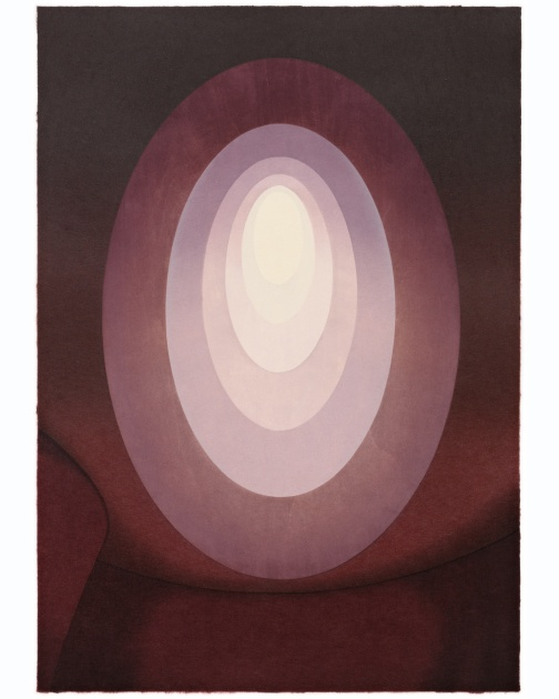 """Suite from Aten Reign (Sienna)"" (2014) by James Turrell"