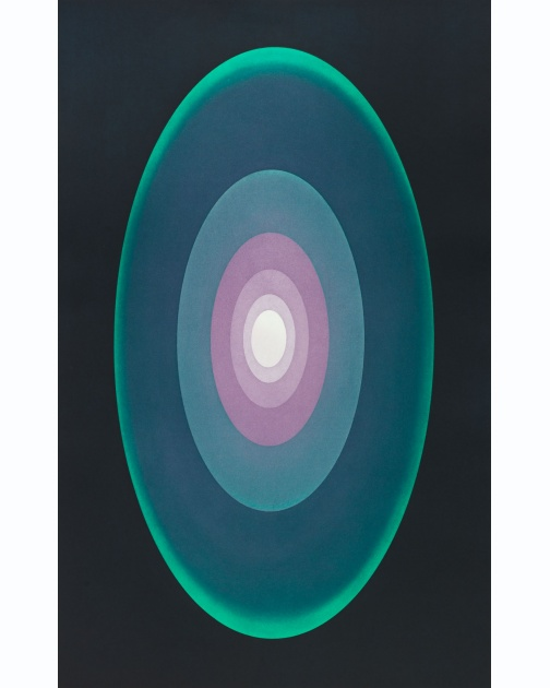 """Suite from Aten Reign (Green)"" (2014) by James Turrell"