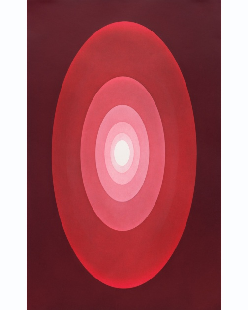 """Suite from Aten Reign (Red)"" (2014) by James Turrell"
