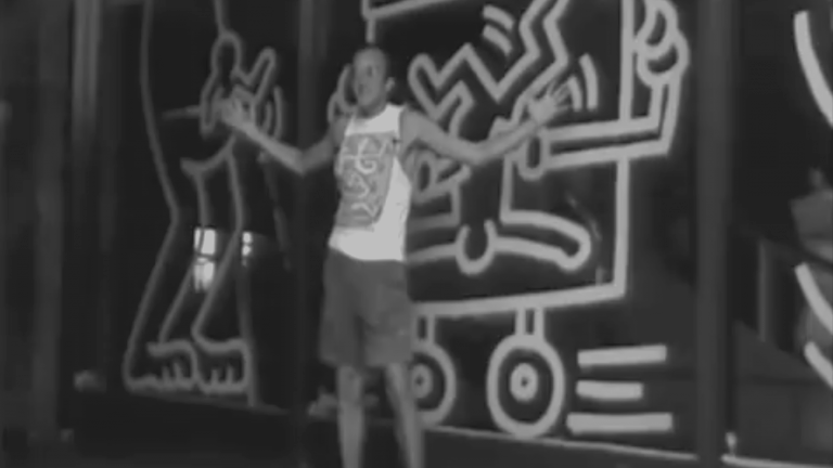 "Still from ""Keith Haring Uncovered"" (© Australian Broadcast Corporation)"