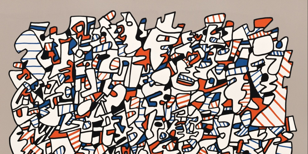 "Detail of ""Ontogenèse"" (1975) by Jean Dubuffet"