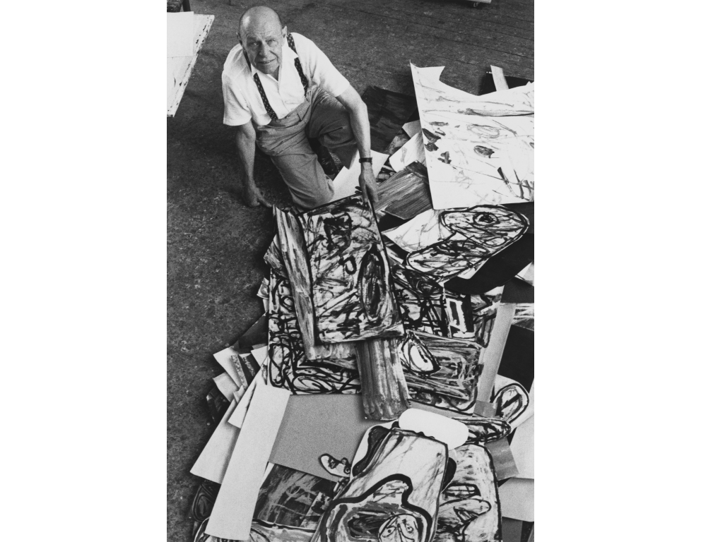 Jean Dubuffet, circa 1985 (photo © Kurt Wyss)