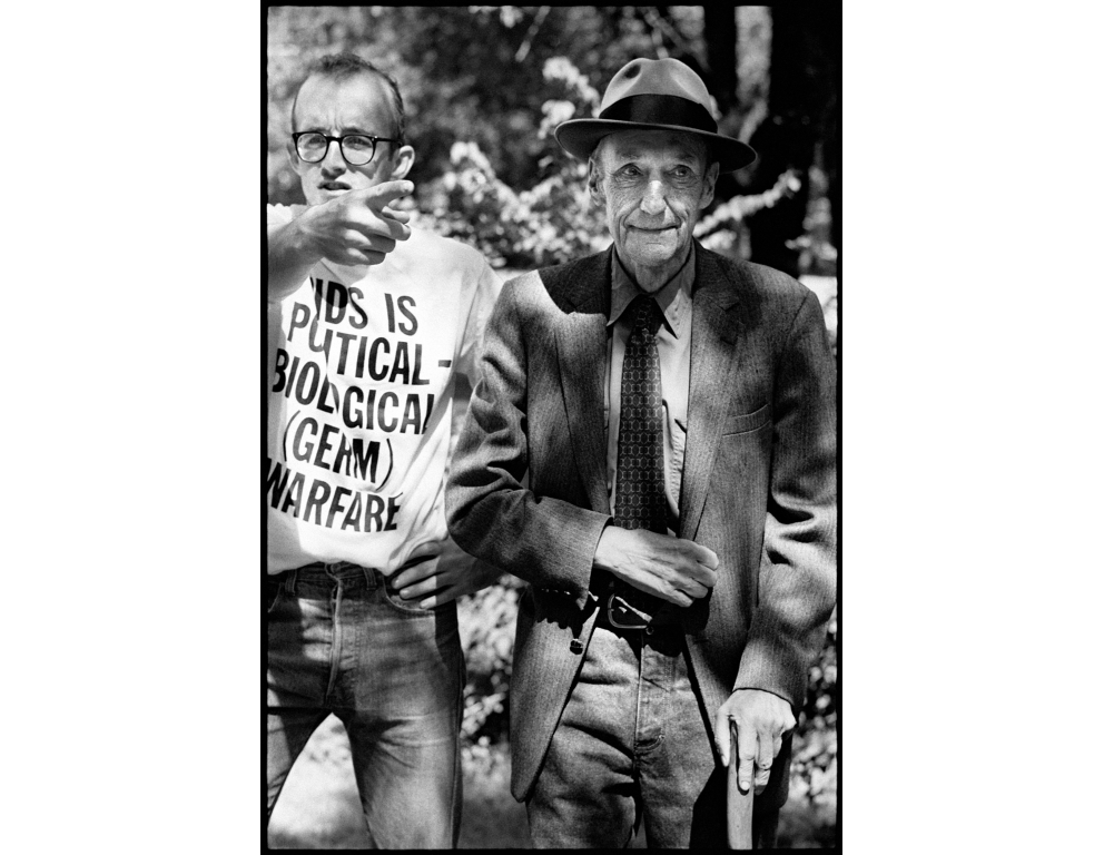 William S. Burroughs and Keith Haring, Lawrence, Kansas 1987  (Photograph © Kate Simon)
